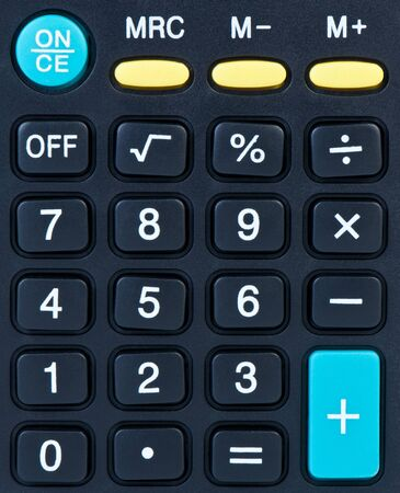 Calculator buttons with numbers and symbols close-up. Stock Photo - 13097738