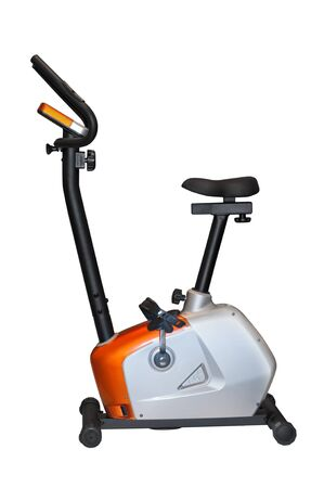 hometrainer: Cycle trainer isolated on white background.