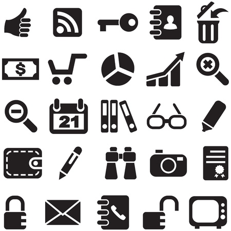pictogrammes: Collection icons vector for design. Stock Photo