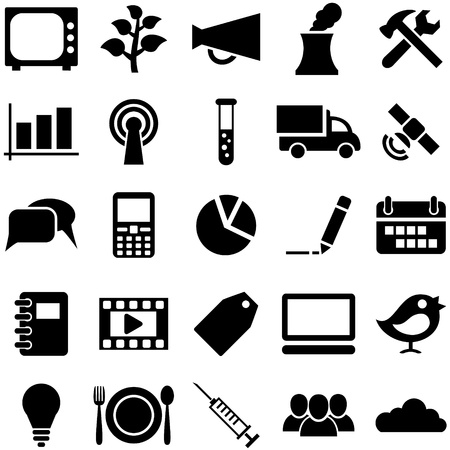 pictogrammes: Set icons and symbols. Pictogrammes for web, business, medicine and design.