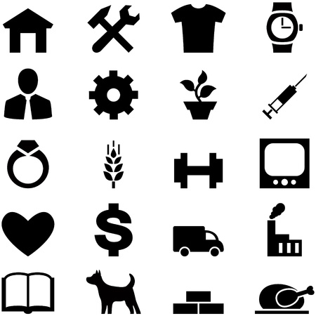 pictogrammes: Set icons for web, mobile and other design in vector format EPS10. Stock Photo