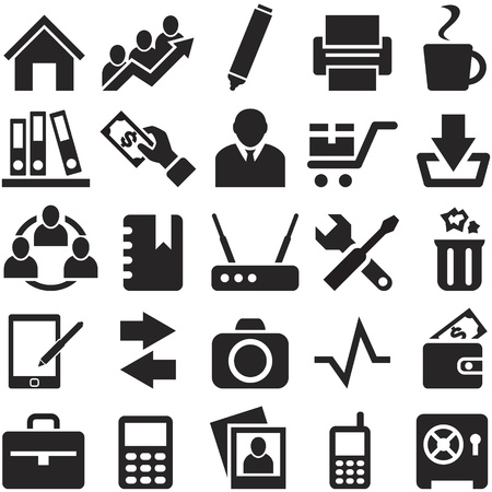 Icons for web and mobile   , that can be scaled to any size without loss of quality  Vector