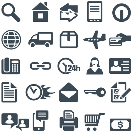24h: Icons for the web site or mobile app   , that can be scaled to any size without loss of quality  Illustration