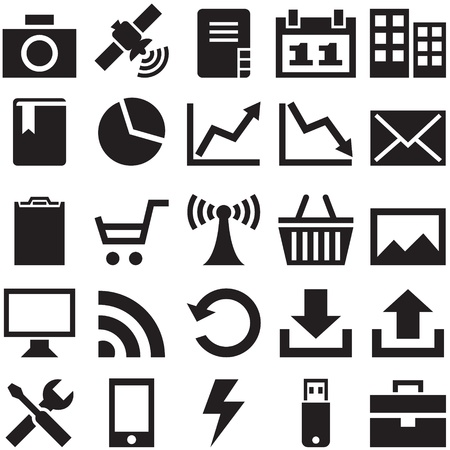 Set internet icons   , that can be scaled to any size without loss of quality Stock Vector - 17627336