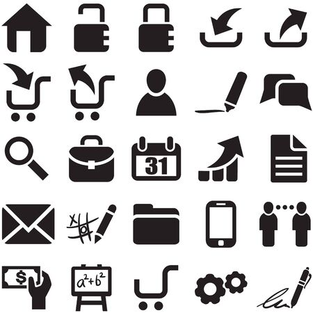 pictogrammes:  black web icons  Illustration