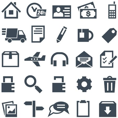 Universal set of icons for mobile applications and web sites Stock Vector - 17627337