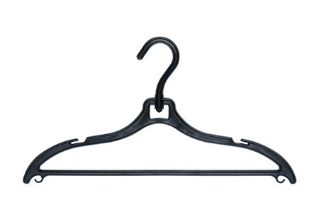 coathanger: Plastic clothes hanger isolated on white background.