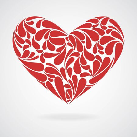 heart curls  Illustration and sign of love  Vector