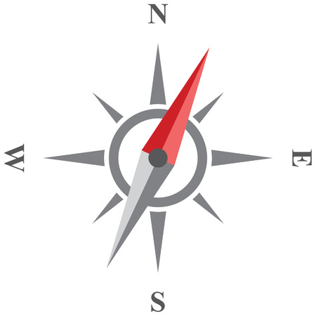 north star: Compass vector icon. Wind rose isolated on white . Possible to easily change the colors and size without losing image quality.