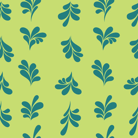 change size: Simple floral ornate. Seamless pattern with flowers can be used for web design, wallpaper, printing on the surface paper or cloth. Possible to easily change the colors and size without losing image quality.