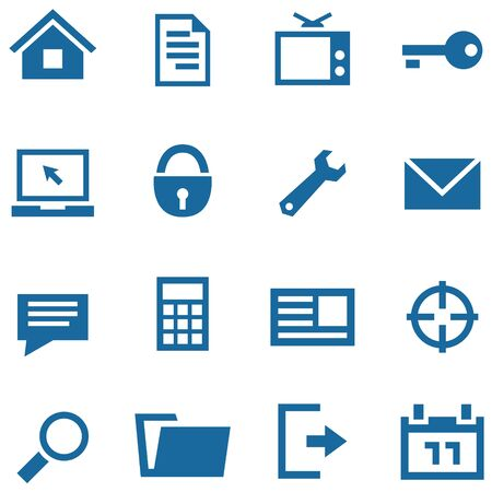 Icons set for web and mobile apps. Simple vector organized in layers for usability.