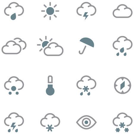 Weather forecast icons set.