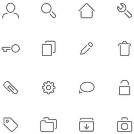 pictogrammes: Set simple icons for web or app interface and etc.