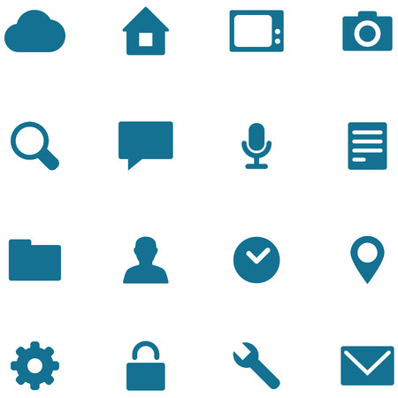 pictogrammes: Set icons and buttons for design. Illustration