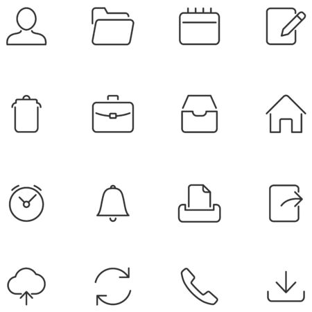 Vector buttons for web interface and mobile applications. Set simple icons.
