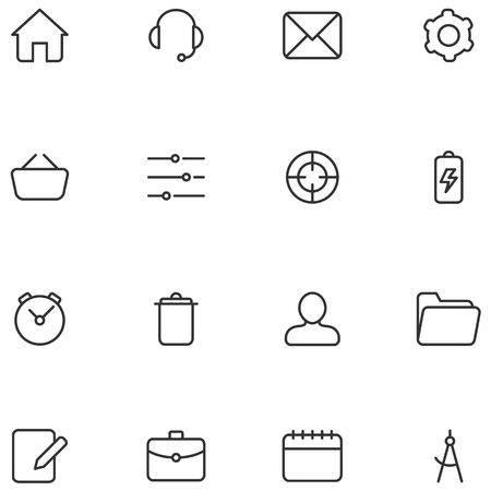 web icons: Vector icons and buttons for web  interface or mobile applications.