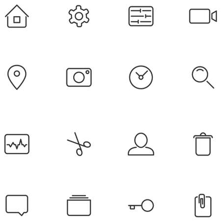 Vector icons and buttons for your web interface or mobile applications design.