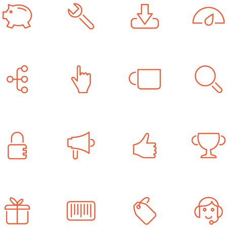 Vector icons flat style.