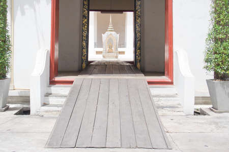 Entrance to a temple in Thailand  photo