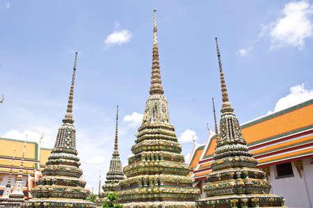 Arts Chinese pagoda of Wat Pho Thailand photo
