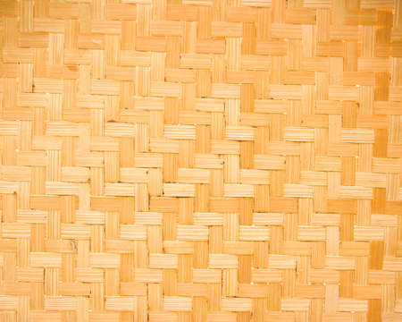 The woven bamboo in a simple form of Thailand. photo