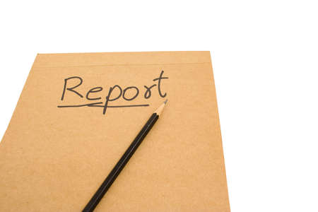 A written report for the start of the work required to write a report. Banco de Imagens