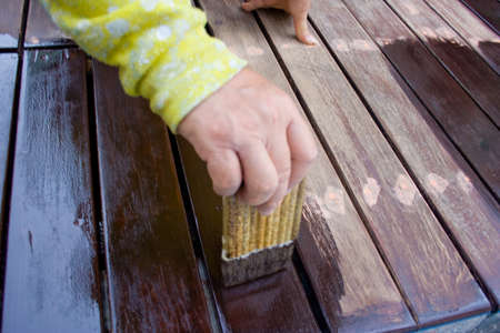 Painted wood coatings and wood care spontaneity and still is not. Stock Photo - 18004267