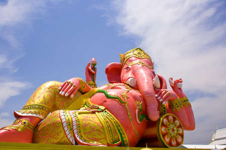 god icon: Statues of Lord Ganesh, the deity of the pink.