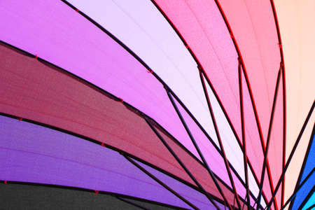 rainbow colorful umbrella background  photo