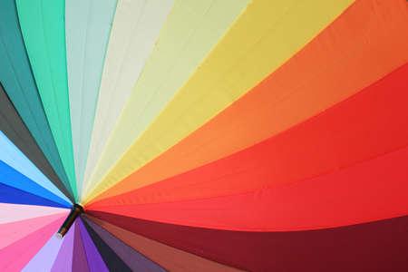 rainbow colorful umbrella background  photo