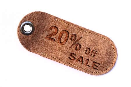 leather sale sign set photo