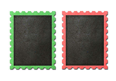 Christmas vintage black stamps frame isolated.  photo