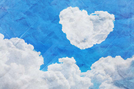 cloud heart background  photo
