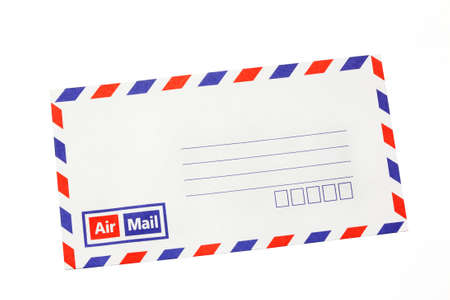 envelope front isolated  photo