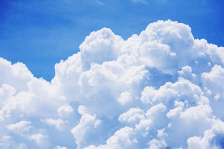 sky clouds: High detail cloud on blue sky background  Stock Photo