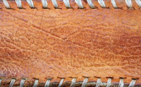 hem: leather with seam full frame photo
