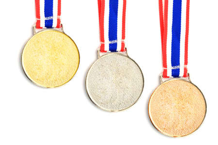 gold, silver, bronze Medal   Ribbon isolated