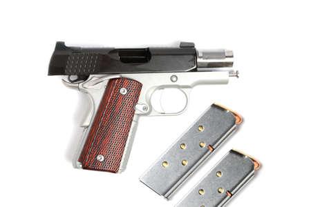 45 ammo:  45 pistol and magazine