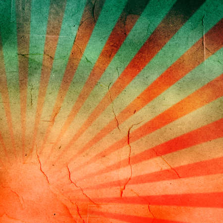 japan flag: abstract grunge rays with paper texture background   Stock Photo
