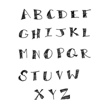 alphabet free hand fountain pen isolated   photo