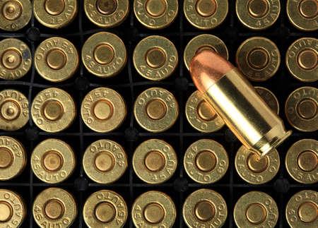 full metal jacket: cartridges of  45 ACP pistols ammo