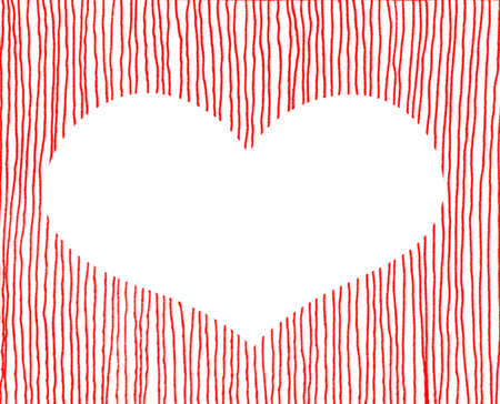 Red heart with dot background   photo
