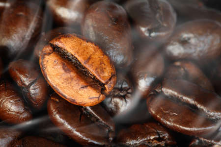 coffee beans background close-up Stock Photo - 12747885