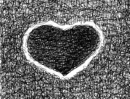 heart abstract drawing free hand Stock Photo - 12748086