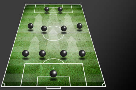 4-4-2 soccer tactic -fornation board   photo