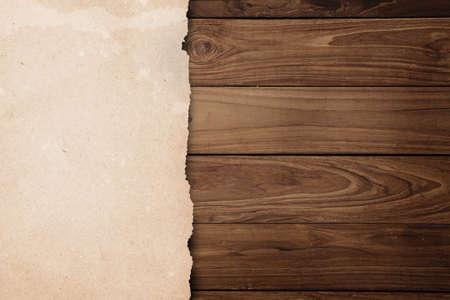 paper on wooden background  photo