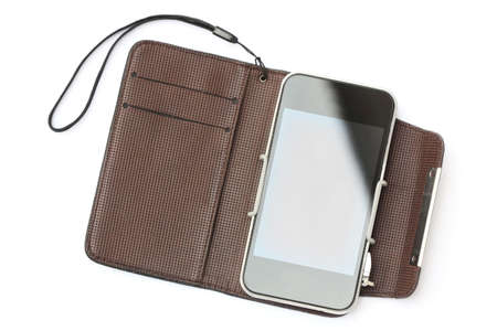 smart phone in case Stock Photo - 13189862
