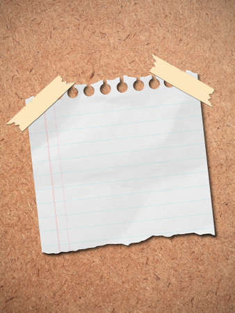 Stock Photo  note paper stick on brown wooden board  photo