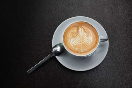 capucinno: latte art coffee  Stock Photo