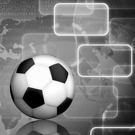 soccer with icon background  photo